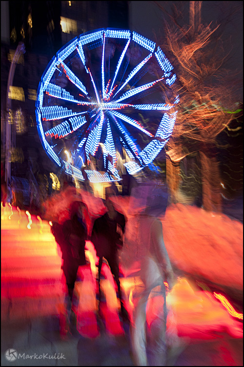 Montréal en lumières - Montreal in lights festival 2012 - Stairs and Ferris Wheel