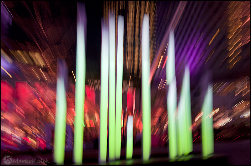 Montréal en lumières - Montreal in lights festival 2012 - Luminous Musical Wands