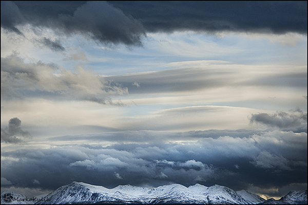 Cloudy Mountain Day Yukon, Canada